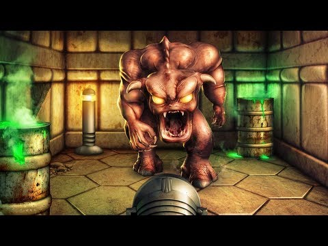 Doom - Pinky Demon Blocks the Exit - Photoshop Speed Art