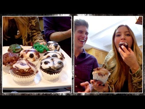 TASTE TEST: Call of Duty Ghosts Cupcakes! w/ Joey Graceffa