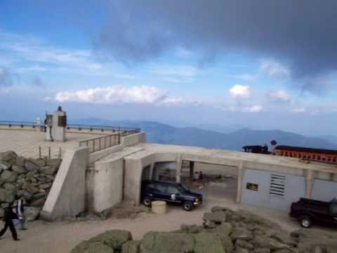 Top of New Hampshire: windy Mt. Washington