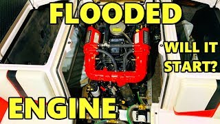 Super Boat Super Flooded Will it Start? Copart Rebuild Part 3