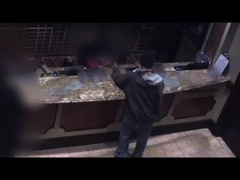 Surveillance Footage Shows Man Robbing Casino