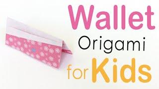Easy☺︎Pocket Wallet (Porte-monnaie) Origami Paper for kids - Origami Kawaii