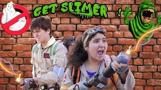 ?Ghostbusters kids parody! ??BUSTING SLIMER! DIY home made movies ?? Canada