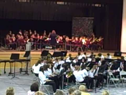 Lebanon Middle School Band in concert