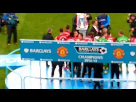Medal & Trophy Presentation - Manchester United v Swansea - 12 May 2013