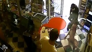 Dog Refuses To Let Armed Robber Attack His Owner