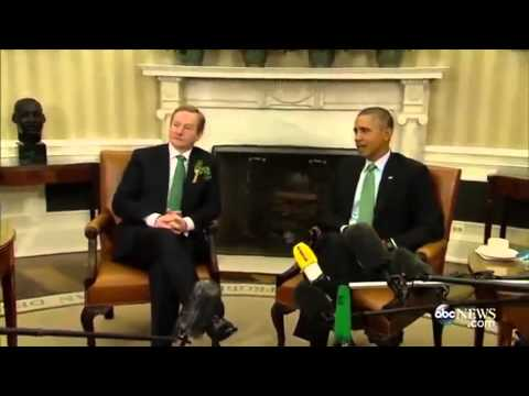 Obama and Irish Prime Minister Enda Kenny Have Awkward Handshake Miss   LoneWolf Sager◑ ◑