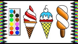 How to draw cream page for children   Drawing and coloring for Kids   bé yêu