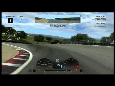 CGR Macro - GRAN TURISMO 4 Laguna Seca track review