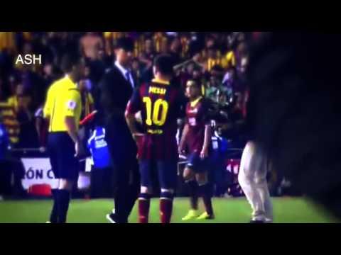 Cristiano Ronaldo Consoles Lionel Messi after Copa del Rey Final 2014 HD