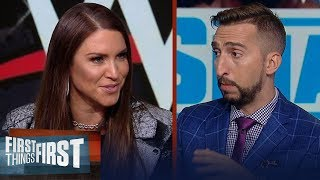 Stephanie McMahon talks Ronda Rousey, The Rock on SmackDown & more | WWE | FIRST THINGS FIRST