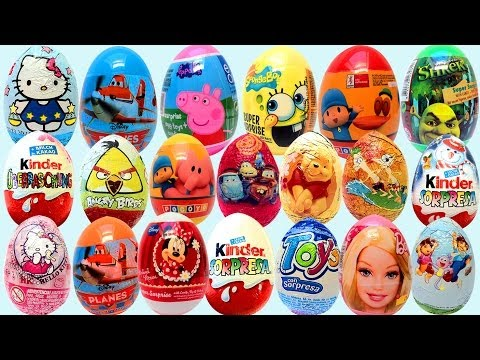 Surprise eggs Kinder Surprise Dora the Explorer Peppa Pig Mickey Mouse clubhouse huevos sorpresa