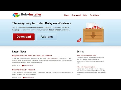 How to install Ruby on Windows(7. 8 &10) - Easy Method(2018)