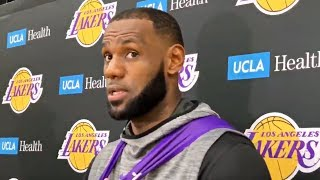 LeBron James On Lakers First Preseason Game, Playing All Five Positions, & More
