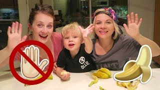 NO HANDS BANANA CHALLENGE W/ Cassie Hollister