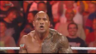 WWE - The Rock saves John cena in St. Louis