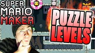 SeanHip PUZZLE Levels ~ Super Mario Maker [PUSHED AROUND, GET A LIFE]