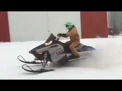2011 Polaris 800 switchback assault snowmobile first run