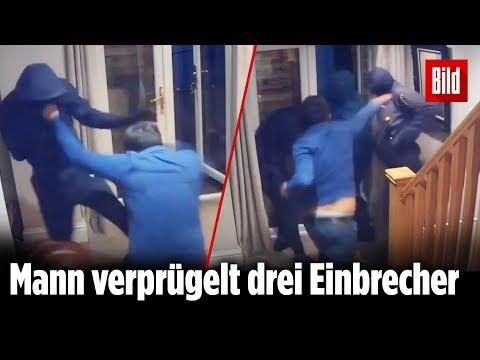 Mann verdrischt Einbrecher: Danach zückt er das Küchenmesser