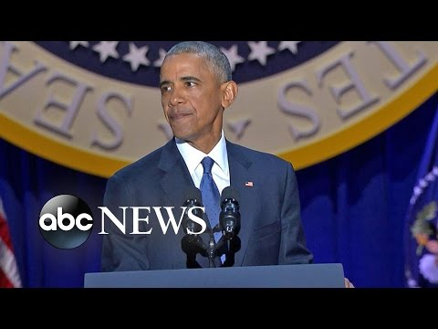 President Obama Emotional Farewell Address | ABC News