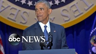 download President Obama Emotional Farewell Address | ABC News Video