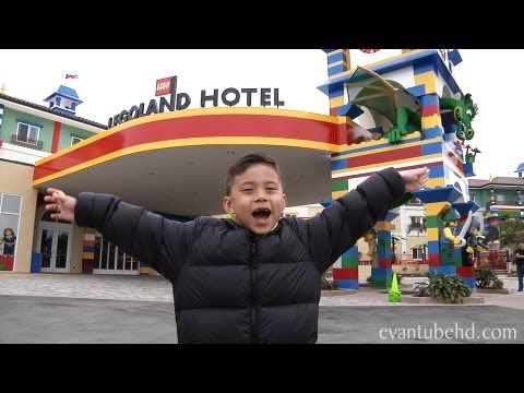 LEGOLAND HOTEL Grand Opening! California: Complete Tour by EvanTubeHD