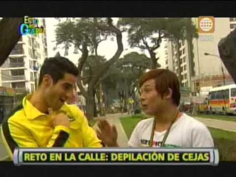 Esto es Guerra: Guty y Gino Assereto en reto de depilación de cejas - 12/07/2013