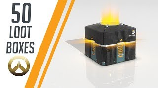50 ANNIVERSARY  LOOTBOXES OVERWATCH !!
