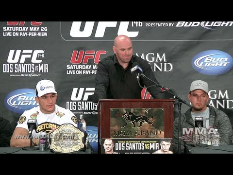 UFC 146: Dos Santos vs. Mir, Post-Fight Press Conference - Youtube