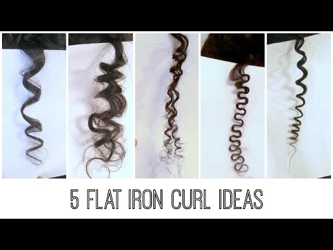 5 Easy Flat Iron Curls : Traditional. Bantu Knots. Kinky. S-curl/Wavy. Spiral