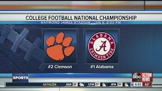 The College Football National Championship: Clemson vs. Alabama