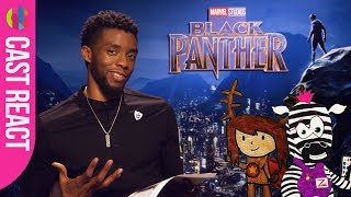 Black Panther cast react to kids' superhero drawings!