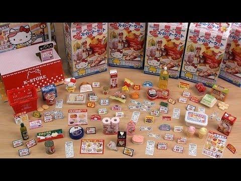Re-Ment  Hello Kitty Supermarket Full Set キティちゃんのスーパーマーケット