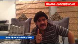 MARADONA AUDIO ESCLUSIVO SULLA QUESTIONE FISCO ITALIANO DIFESO