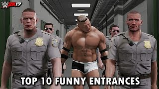 "WWE 2K17 - Top 10 Funniest Entrances ""GIMMICK SWAP"" Cena, Reigns, Lesnar & More! (PS4 & XB1)"