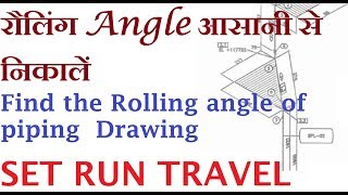 Formula for Rolling angle in Hindi