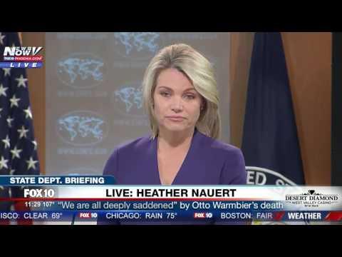 FNN: Feisty Moment Between Reporter & State Department's Heather Nauert Over Otto Warmbier's Health