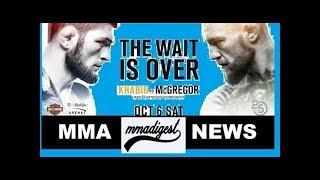 Conor McGregor vs Khabib Nurmagomedov tickets range from 2 hundred to 2.5 grand (UFC 229)