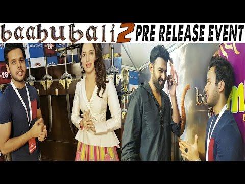 ME AND RICHAWALI AT BAAHUBALI 2 PRE RELEASE EVENT || PRABHAS || TAMANNAAH thumbnail