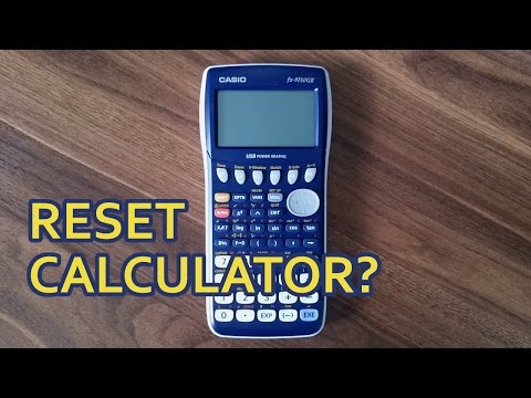 How to reset Casio fx-9750GII