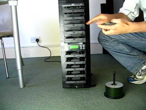 Edgedupe DVD Duplicator Demonstrated by Ben from Edge10