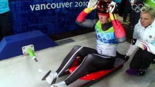 Felix Loch (GER) Wins Men's Luge Gold - Vancouver 2010 Winter Olympics