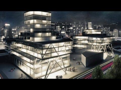 3D Animation Business Center architectural presentation