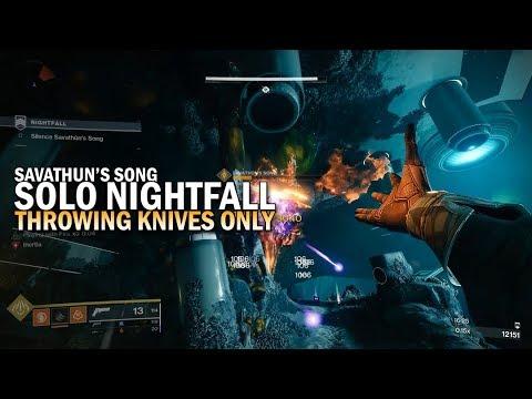 "Solo Throwing Knives Only Nightfall ""Savathun's Song"" [Destiny 2 Forsaken] thumbnail"
