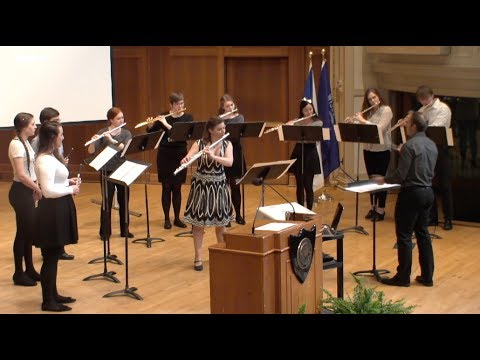 Diffusus (J. Maxwell) - Lawrence University Flute Ensemble - 05.23.17