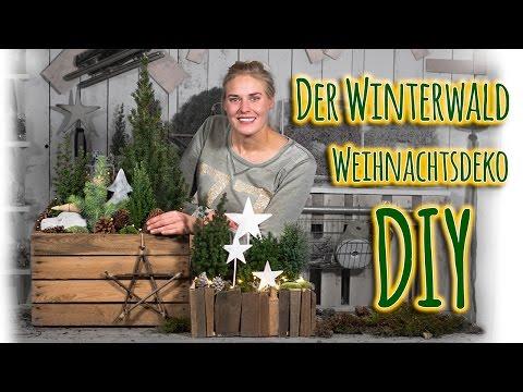 Weihnachtsdeko DIY - Der Winterwald