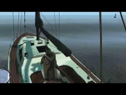 GTA 4 The Ballad of Gay Tony Прикол плывём с помощью чита супер удар