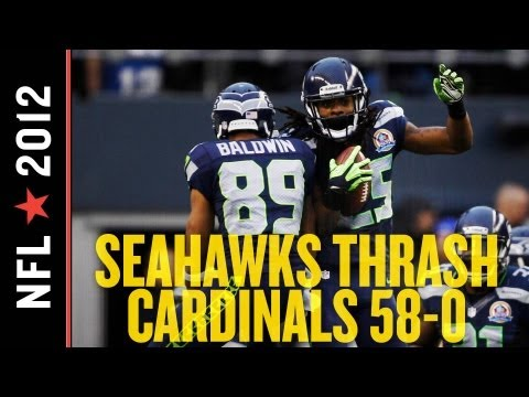 Seahawks vs Cardinals 2012: Seattle Embarrasses Arizona 58-0, Improves to No. 5 Seed in NFC at 8-5