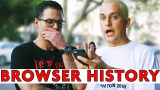 GOING THROUGH STRANGERS' BROWSER HISTORY | Chris Klemens