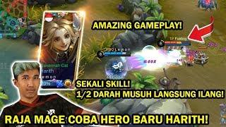 PERDANA RRQ LEMON PAKAI HERO BARU HARITH! AMAZING GAMEPLAY! NEW HERO MAGE DI TANGAN RAJA MAGE!